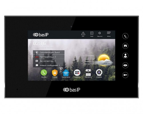 IP видеодомофон BAS-IP AQ-07 BLACK